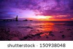 vibrant colorful sunset over... | Shutterstock . vector #150938048
