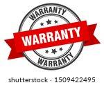 warranty label. warranty red... | Shutterstock .eps vector #1509422495