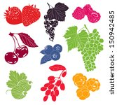 berries vector collection | Shutterstock .eps vector #150942485