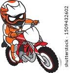 motocross rider ride motorcycle ...   Shutterstock .eps vector #1509432602