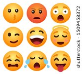 set of emoticon cartoon emojis... | Shutterstock .eps vector #1509458372
