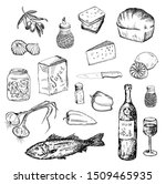 fish and other food set.... | Shutterstock . vector #1509465935
