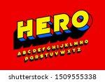comic book superhero style font ... | Shutterstock .eps vector #1509555338