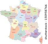 france administrative map | Shutterstock .eps vector #150958766