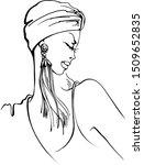 vector hand drawn beautiful... | Shutterstock .eps vector #1509652835