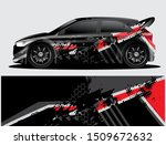 rally car decal graphic wrap... | Shutterstock .eps vector #1509672632