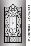 Forged Gate Door. Vector Eps10.