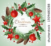 frame with christmas decoration ...   Shutterstock .eps vector #1509680288