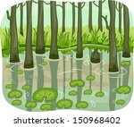illustration of a swamp with... | Shutterstock .eps vector #150968402