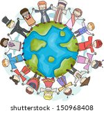 doodle illustration featuring... | Shutterstock .eps vector #150968408