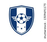 soccer football badge with... | Shutterstock .eps vector #1509691175
