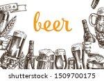 horizontal poster beer set....   Shutterstock .eps vector #1509700175