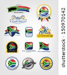 south african seals  flags ... | Shutterstock .eps vector #150970142