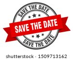 save the date label. save the... | Shutterstock .eps vector #1509713162