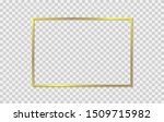 gold shiny frame with shadows... | Shutterstock .eps vector #1509715982