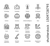 science related thin line icons ... | Shutterstock .eps vector #1509728795