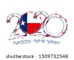 happy new 2020 year with flag... | Shutterstock .eps vector #1509732548