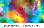 abstract multi colored polygon  ... | Shutterstock .eps vector #1509762758