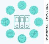 binders vector icon sign symbol | Shutterstock .eps vector #1509774032