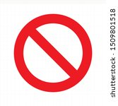 prohibition sign. no sign on...   Shutterstock .eps vector #1509801518