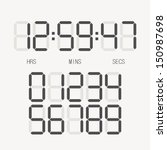 digital clock   number set | Shutterstock .eps vector #150987698