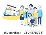 three generation family... | Shutterstock . vector #1509878135