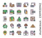 finances management green color ... | Shutterstock .eps vector #1509920942