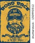 vector old school race poster. | Shutterstock .eps vector #150993512