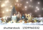 moody christmas decoration with ... | Shutterstock . vector #1509960332