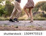 Two Adult Dancers Feet Dancing...