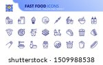 simple set of outline icons... | Shutterstock .eps vector #1509988538