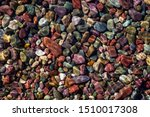 Colorful Rocks In A Glacier...