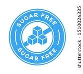 sugar free vector logo or badge ... | Shutterstock .eps vector #1510026335