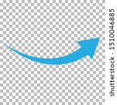 curved blue arrow icon on...