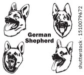 German Shepherd Illustration...