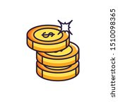 pile coins money dollars icons | Shutterstock .eps vector #1510098365