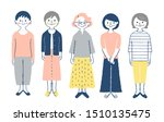 5 senior woman standing in front   Shutterstock . vector #1510135475