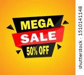 mega sale banner template... | Shutterstock .eps vector #1510141148