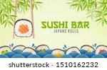 sushi bar ads. sushi and rolls...   Shutterstock .eps vector #1510162232