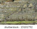 Machu Picchu Masonry - stock photo
