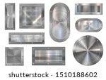 metal plate banner. steel... | Shutterstock .eps vector #1510188602