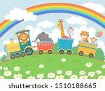 cartoon animals travel. zoo... | Shutterstock .eps vector #1510188665