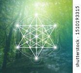 merkaba sacred geometry... | Shutterstock .eps vector #1510193315