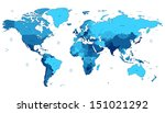 detailed vector world map of... | Shutterstock .eps vector #151021292