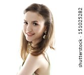 young woman smiling . studio... | Shutterstock . vector #151025282