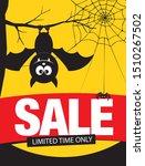 halloween sale banner layout...   Shutterstock .eps vector #1510267502
