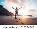 young man arms outstretched by... | Shutterstock . vector #1510276562
