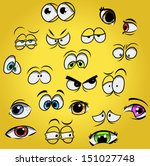cartoon eyes   Shutterstock .eps vector #151027748
