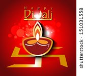 abstract dewali design with... | Shutterstock .eps vector #151031558