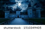 Haunted Gothic Castle At Night...